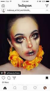 flower clown makeup