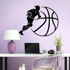 basketball wall decals woman vinyl stickers for kids teens nursery baby room home decor gym nz basketball wall decals inspirational
