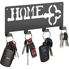 decorative wall key holder modern magnetic key holder with 4 hooks keyring coat