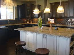 Expresso Kitchen Cabinets Espresso Kitchen Cabinets With White Island