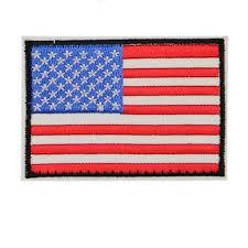2Pcs American Flag <b>Embroidered Patch</b> Black Border <b>USA</b> United ...