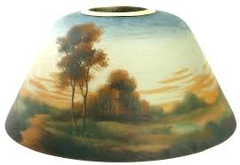 reverse painted lamp shade reverse painted lamp reverse painted lamp shades signed reverse painted lamp shade