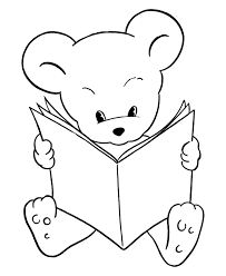 Small Picture Teddy Bear Coloring Pages Free Printable Reading Bear Coloring