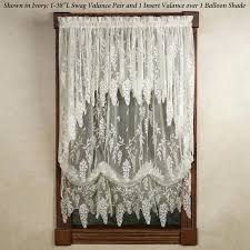 white swag curtains white lace swag curtains wisteria arbor lace valances and curtain panels off white