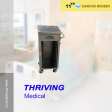 Medical Chart Shelves Hospital Stainless Steel Patient Record Cart Delivery Cart
