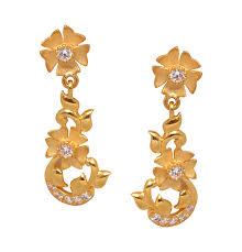 Saravana Stores Gold Earrings Designs Earrings Grt Jewellers