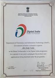 Brand Ambassador Digital India Latest News On Brand Ambassador