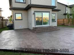 edmonton stamped concrete next level