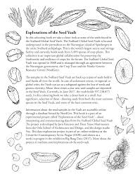 the opening page of the seed vault colouring book