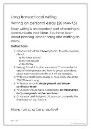 esl guided writing worksheets guided essay writing task