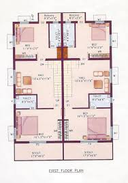 2 bedroom house plans india modern duplex 1200 sq ft indian style