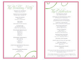 Wedding Day Program Template Classic Wedding Program Template For