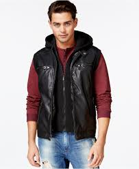 guess jacket faux leather moto with knit hood cairoamani com