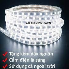 Đèn LED dây 5050 10m ống nhựa 220v tặng kèm 1 dây nguồn tốt giá rẻ