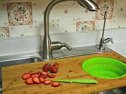 elkay kitchen sink cutting board kohler executive chef rv kohler stages sink cutting board bamboo over