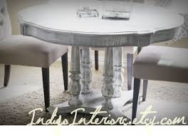 creative ideas whitewashed round dining table innovation gray grey regarding design 6