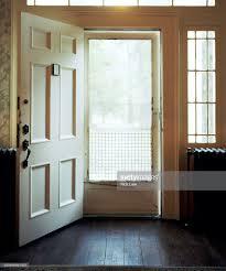 open front door. Open Front Door Of House : Stock Photo