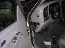 minus the silencer installing sirius into a chevrolet silverado this shows the fusebox covering removed