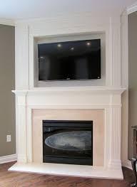 sleek corner gas fireplace surround ideas
