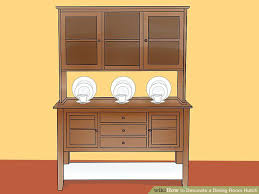 image titled decorate. Image Titled Decorate A Dining Room Hutch Step 9 How To