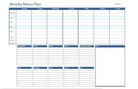 Diabetic Meal Planner Free Weekly Meal Planner Template Free Online Budget Menu Excel