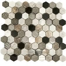 soho studio corp surface tech mosaic hexagon river bed