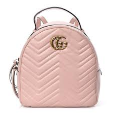 Backpack Light Pink Gucci Calfskin Matelasse Gg Marmont Backpack Light Pink 449087