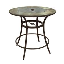 tall patio table. Allen + Roth Safford 40-in W X L Round Bar Table Tall Patio