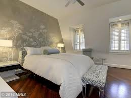 Master Bedroom Wallpaper Contemporary Master Bedroom With Hardwood Floors Ceiling Fan In