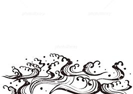 ウェイブ 波 二 白黒 かすれ イラスト素材 5541023 フォトライブ