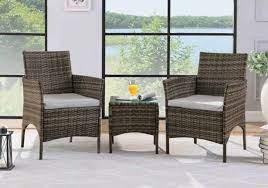 3pc rattan furniture outdoor garden