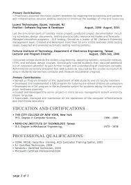 Resume Formats For Professionals Professional Sample Resumes ...