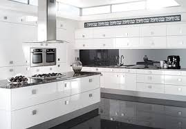 black and white kitchen ideas. White Modern Kitchen Design Ideas With Cabinet Sink Countertop Black And