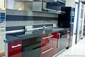 Red And Black Kitchen Designs Unconvincing Idea Of The Day Modern Glossy  And 11