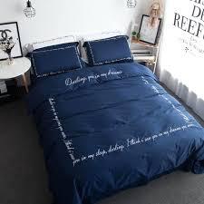 navy blue king quilt cotton sateen blanket cover set navy blue quilt cover queen king size
