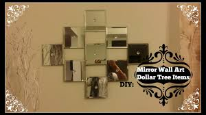 Broken Mirror Wall Art Diy Mirror Wall Art Dollar Tree Mirrors Youtube