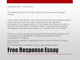 ap english literature and composition national exam ppt video   response essay suggested time 40 minutes