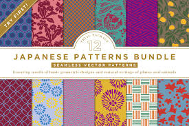 Japanese Pattern Mesmerizing 48 JAPANESE PATTERNS BUNDLE Graphic Patterns Creative Market