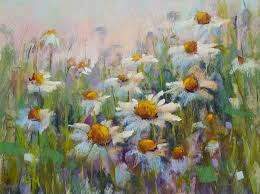 how to paint daisies in pastel using a watercolor underpainting