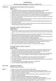 Bioinformatics Resume Computational Biology Resume Samples Velvet Jobs