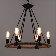 vintage looking lighting. baycheer hl371768 industrial retro vintage style with 3937 inch length chain rope 6 lights chandelier pendant light lamp use e2627 bulb amazoncom looking lighting