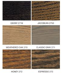 Wood Furniture Stain Color Chart Furniture Wood Stain Colors Nyrcd Info