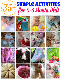 35 simple activities for 0 6 month olds on powerfulmothering
