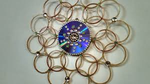 Design With Broken Bangles Wall Hanging Made Out Bangles Best Out Of Waste Wall