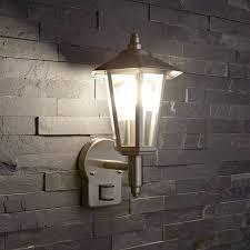 modern stainless steel pir motion sensor ip44 outdoor wall light
