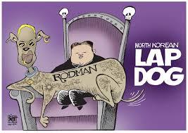 Image result for dennis rodman in korea cartoons