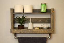 bath towel holder for wall. Rustic Heated Towel Rack Wall Mounted With Shelf Bath Holder For I