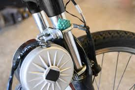 you will want to deflate the front tire briefly in order to get the motor alined and locked into place you don t want too much pressure between the drive