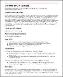 Putting Volunteer Work On Resume Volunteer Experience On Resume