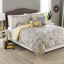 gray paisley bedding. Contemporary Bedding Better Homes And Gardens 5Piece Comforter Set Yellow Grey Paisley With Gray Bedding E